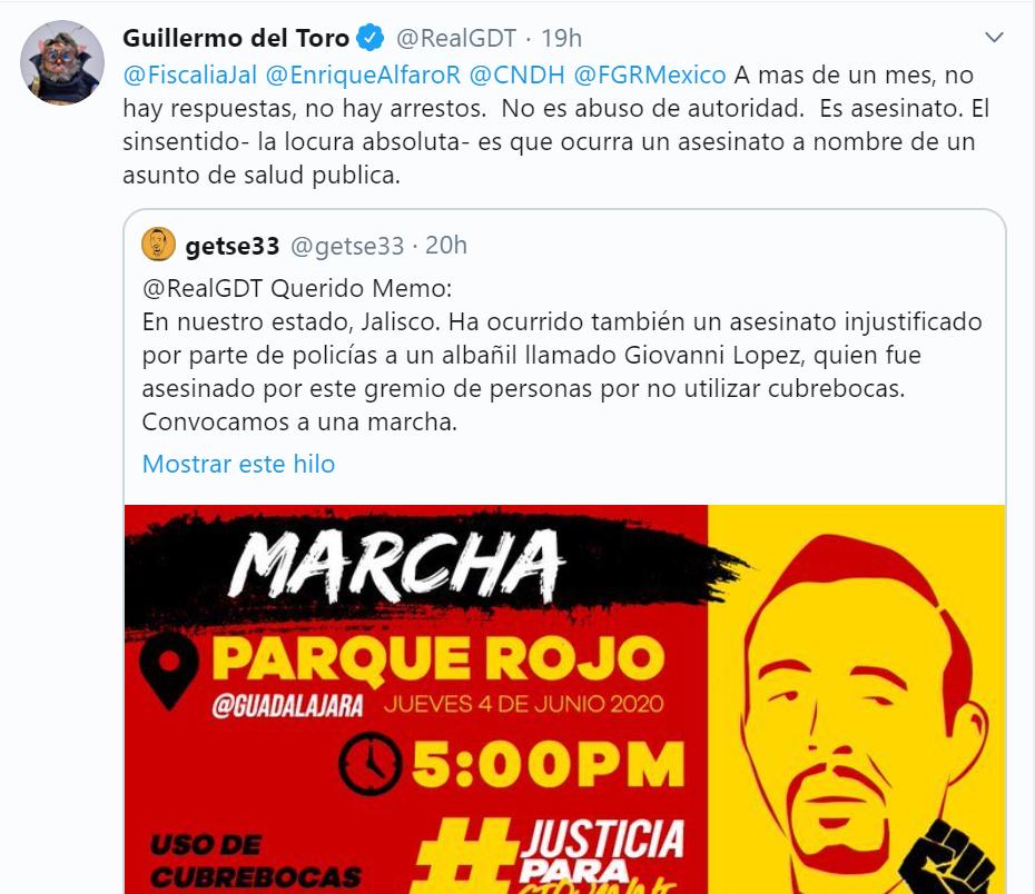 famosos piden justicia para Giovanni