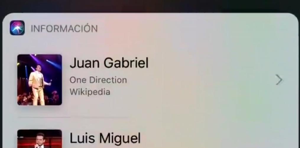 Según Siri, Juan Gabriel y Luis Miguel fueron integrantes de One Direction