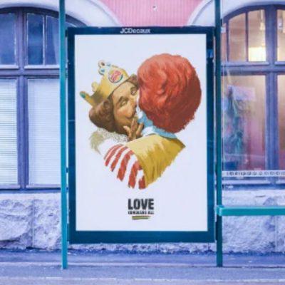 Burger King y Ronald McDonald celebran el orgullo LGBT+ con un beso