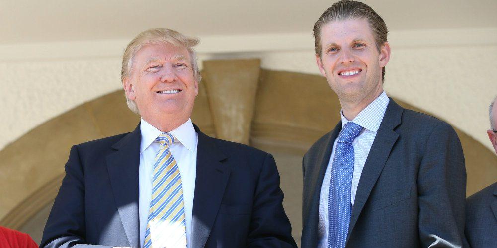 Hijo de Trump pide que recen por la salud de su padre