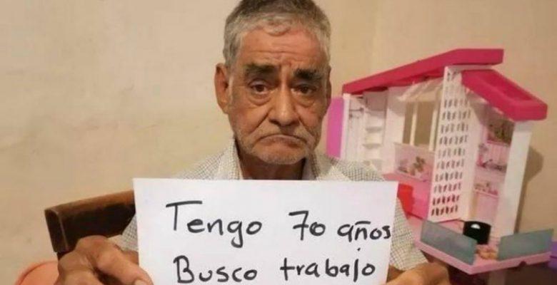 Abuelito de 70 años busca empleo porque no ha podido jubilarse
