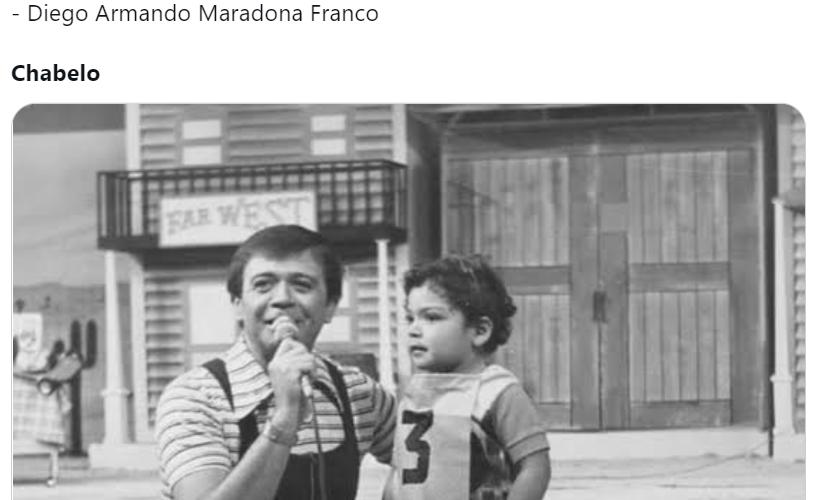 Chabelo protagoniza memes por vivir más que Maradona