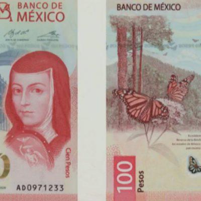 Presentan el diseño del nuevo billete de 100 pesos con Sor Juana