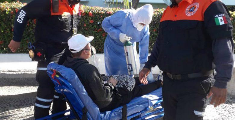 Turista presenta dificultad para respirar y confiesa que tiene COVID-19