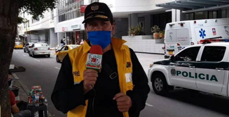 Reportero se entera en vivo de que su esposa falleció por COVID-19