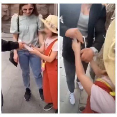 Tiktoker regala un iPhone a niña en un video y luego se lo quita