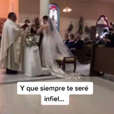 """""""Siempre te seré infiel"""", dice hombre por error en su boda"""