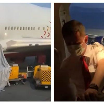 Pasajero abre la salida de emergencia de un avión porque tenía calor