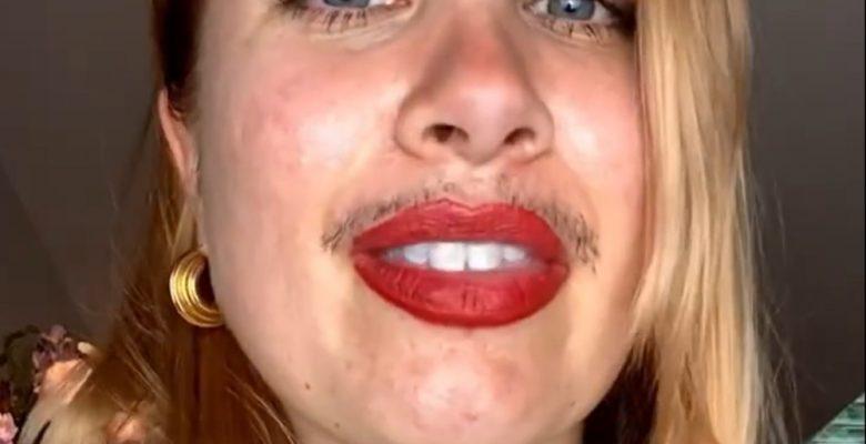 Influencer se cansa de utilizar filtros y presume su bigote