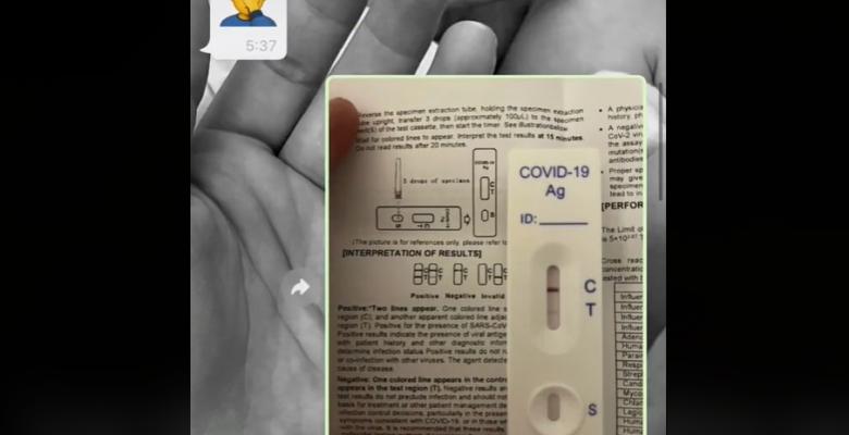 Papá confunde la prueba de COVID-19 de su hija con una de embarazo